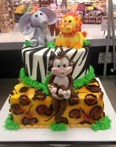 Jungle Cake, Safari, Party Ideas, Baby Shower, Cakes, Desserts, Food, Anniversary Cakes, Baby Shawer