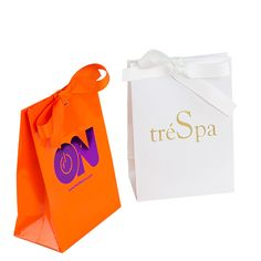 Imprinted Fashion Laminated Gift Bags add an elegant touch to your product packaging. #productpackage #custompackaging #imprintedlogos #logoprinting #customprinting #retailsupply #retailmarketing #marketingmaterials #paperbags
