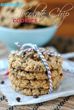 Pumpkin Oatmeal Cookies - Shugary Sweets