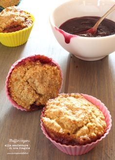 muffin vegani confettura di uva fragola