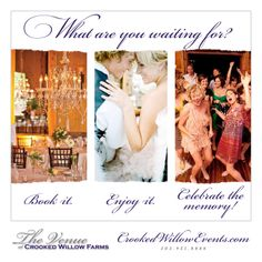 Book it. Enjoy it. Celebrate the memory at Crooked Willow Farms!