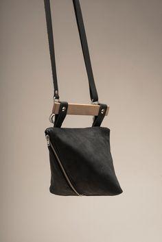 Ledertasche schwarz / Leder Handtasche / Abend Tasche / von VEINAGE