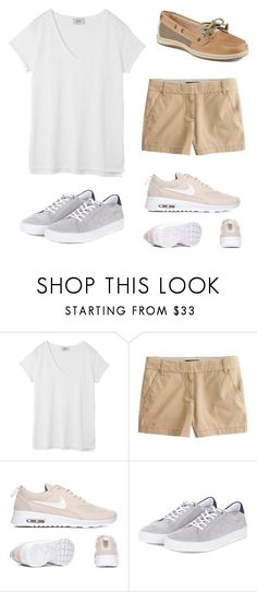 """""""School day 2"""" by sophiad3 on Polyvore featuring Hush, J.Crew, Barbour and Sperry"""