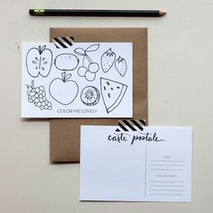 Color Me Lovely Postcards now featured on Fab.