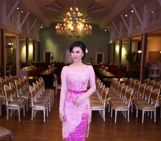 Model Kebaya Modern, Kebaya Modern Dress, Kebaya Dress, Kebaya Brokat, Dress Brokat, Kebaya Pink, Model Rok, Girls Dresses, Formal Dresses