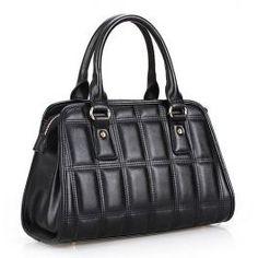 Napa Portable Leather Small Tote HandBag BLACK