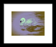 Swan Framed Print featuring the painting Swan Dream by Faye Anastasopoulou Hanging Wire, Framed Art Prints, Swan, Office Decor, Fine Art America, Wall Art, Painting, Collection, Swans