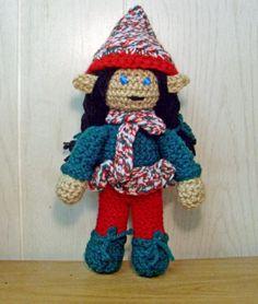Peppermint Perky (crocheted) Elf by FreakieGeekie