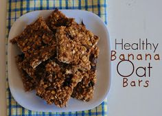 The Farm Girl Recipes: Healthy Banana Oat Bars