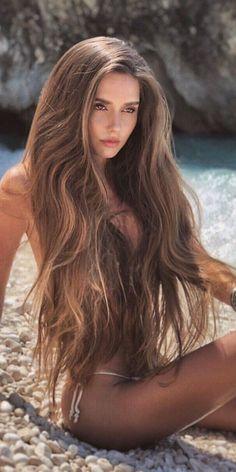 Beautiful Long Hair, Gorgeous Hair, Most Beautiful Women, Mädchen In Bikinis, Tumbrl Girls, Brunette Beauty, Hair Beauty, Bikini Girls, Beauty Women