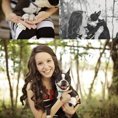 High School Senior with her dog.. I want my dog to be in at least one of my pictures!!