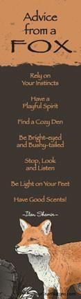 Advice from a Fox Laminated Bookmark