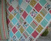 Rag Quilt Fray Edge for baby  Hedgehogs and lovebirdds