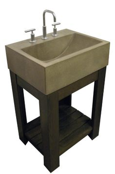 Simple and blends well in an art studio.  Custom Made Concrete Sink - Lacus Concrete Sink