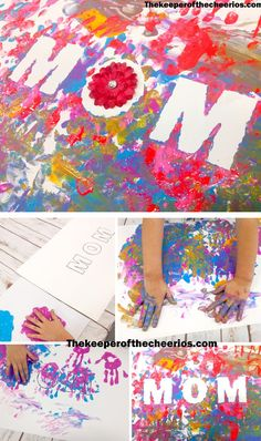 Finger Painted Mothers Day Craft