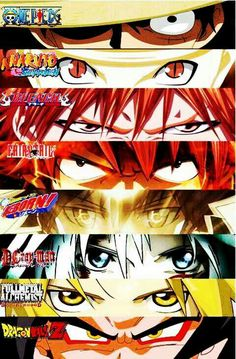 One Piece | Bleach | Fairy Tail | Katekyo Hitman Reborn | D-Grayman | Fullmetal Alchemist | Dragon ball Z