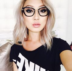 Yes, you can wear lashes when you have glasses. Sophia breaking the misconception here in her custom 'Sophia Lash' from Velour Lashes. Visit velourlashes.com to shop!