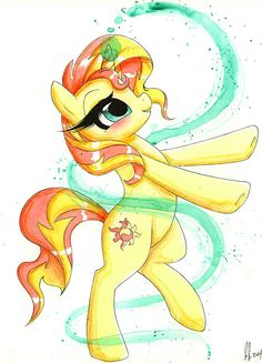 Sunset Shimmer. Love that this is watercolor!