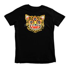 3 Eyed Leopard T-shirt by Colin Walsh by Tigersheepfriends on Etsy