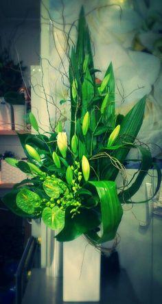 Tall Corporate Flower Arrangement