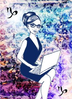 Capricorn - The career woman - by Joanne Wong Mars In Aquarius, All About Capricorn, Zodiac Signs Capricorn, Capricorn Traits, Sagittarius And Capricorn, Horoscope Signs, Horoscopes, Pictures Images, Art Images