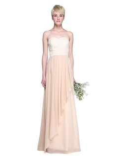 2017 Lanting Bride® Floor-length Chiffon / Lace Elegant Bridesmaid Dress - Sheath / Column Sweetheart with Pleats - CAD $111.19 ! HOT Product! A hot product at an incredible low price is now on sale! Come check it out along with other items like this. Get great discounts, earn Rewards and much more each time you shop with us!