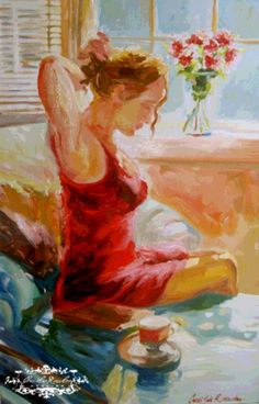 SEATED FIGURE original oil painting