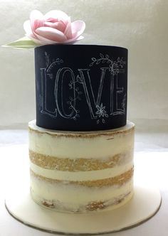 Nakedcake. Weddingcake. Chalkboardcake. Waferpaperflower. She Bee Cake&Cookie She Bee Pasta&Kurabiye