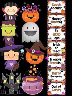 Behavior Clip Chart - Halloween Friends by Piggy Moon Classroom Behavior Chart, Behavior Clip Charts, Student Behavior, Behaviour Chart, Classroom Management, Classroom Ideas, Little Lotus, Parent Contact, Positive Reinforcement