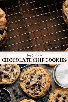 Chocolate Chip Cookies Recipe Video, Crispy Chocolate Chip Cookies, Best Gluten Free Chocolate Chip Cookie Recipe, Cookie Chips Recipe, The Best Chocolate Chip Cookies Recipe, Recipes With Chocolate Chips, Chocolate Chip Cookie Bars, Easy Cookie Recipes, Simple Cookie Recipe