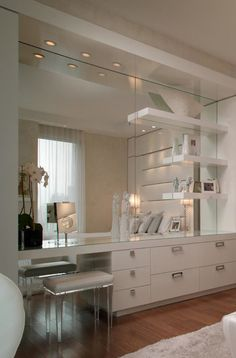Renovating and updated bathroom vanity Bedroom Closet Design, Home Decor Bedroom, Bed Design, House Design, Dressing Table Design, Beauty Room, Dream Rooms, New Room, House Rooms