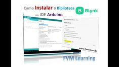 Como Instalar a Biblioteca Blynk na IDE Arduíno - Passo à Passo Arduino, S Videos, App, Internet, Learning, Step By Step, Studying, Apps, Teaching