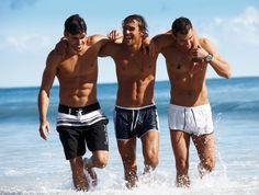 ba78e68ade Clint Mauro, Caio Cesar, Mark Vanderloo & Felipe Roque by Dan Martensen for  Calzedonia Spring/Summer 2012 Campaign. Men's SwimsuitsMen's SwimwearSwim  ...