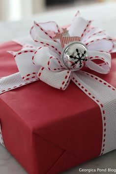 Red Kraft paper and holiday wrappings