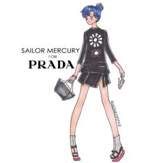 Jerome Lamaar Sailor Mercury for Prada « fashionmagazine.com ❤ liked on Polyvore featuring backgrounds