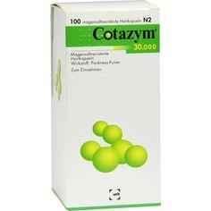 COTAZYM 30.000 Pellets magensaftresistente Kapseln:   Packungsinhalt: 100 St Kapseln magensaftresistent PZN: 04850959 Hersteller:…