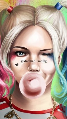 Harley Quinn https:/ Joker Y Harley Quinn, Harley Quinn Drawing, Margot Robbie Harley Quinn, Joker Cosplay, Harey Quinn, Batman Comic Art, Gotham Batman, Batman Robin, Jason Todd Batman