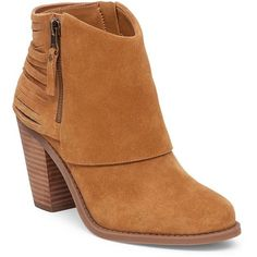 Jessica Simpson Cerrina Suede Ankle Boots (6.340 RUB) ❤ liked on Polyvore featuring shoes, boots, ankle booties, camel, short suede boots, cut-out booties, block heel ankle boots, strappy booties and jessica simpson booties