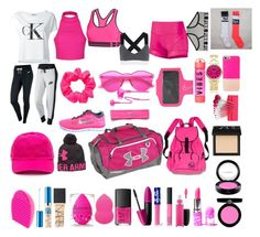 """""""pink"""" by daisywolfe on Polyvore featuring Ally Fashion, Under Armour, NARS Cosmetics, Revlon, NIKE, Asics, Lime Crime, Armani Beauty, Geneva and MAC Cosmetics"""