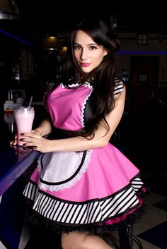 Little Cafe Waitress Apron by Dots Diner  Made to by dotsdiner, $82.00