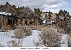 Buildings from a long abandoned ghost town in the western USA by Sue Smith, via ShutterStock