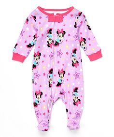 Look what I found on #zulily! Minnie Mouse Star Footie - Infant by Minnie Mouse #zulilyfinds