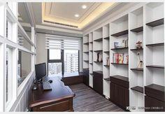 古典風書房 Study Room Design, Design Case, Bookcase, Shelves, Home Decor, Shelving, Decoration Home, Room Decor, Book Shelves