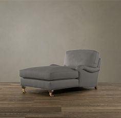 Restoration Hardware - English Roll Arm Upholstered Chaise in Fog (Living Room)