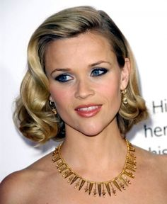 Reese Witherspoon 50's Medium Hairstyle