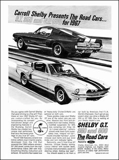 1967 Shelby Mustang ad....