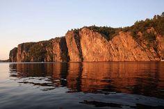 The Mazinaw Rock at Sunset by Jack1962, via Flickr. Bon Echo Provincial Park.  Near Cloyne, Ontario.