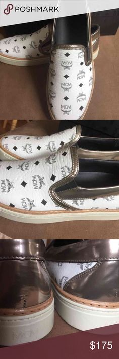 NIB MCM leather loafer sneakers slip on 38 Brand new with original box. MCM leather slip on/loafer/sneaker  Size: women's 38 ( fits 7.5 or 8)  100% authentic MCM guaranteed! Department store purchase receipt available upon request. MCM Shoes Flats & Loafers
