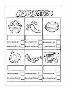 Atividades para crianças silábicos/ silábicos alfabéticos | Pedagogia ao Pé da Letra
