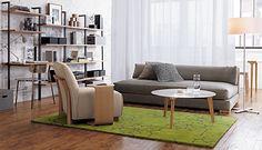 mounted desk + living room